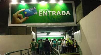 Sektor Visa na stadionie brazylijskiego Palmeiras