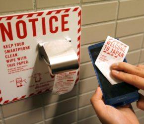 NTT DoCoMO - papier toaletowy